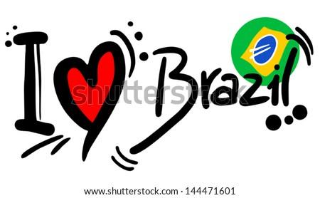 Brazil love - stock vector
