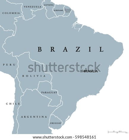 Brazil political map capital brasilia national stock vector 2018 brazil political map with capital brasilia national borders and neighbors federal republic and country gumiabroncs Image collections
