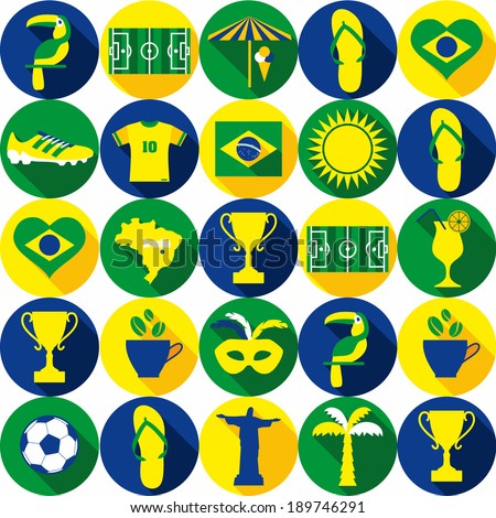 Brazil seamless pattern. - stock vector