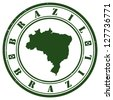 Brazil stamp - stock photo