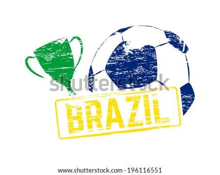 Brazil stamp, vector illustration - stock vector