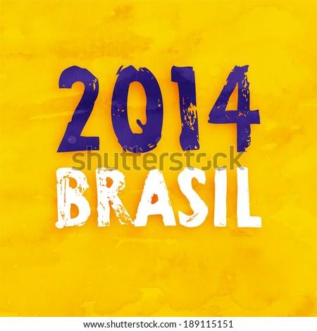 Brazil Summer 2014 Vector Water Color Background - stock vector