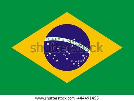 Brazil Vector Flag - stock vector