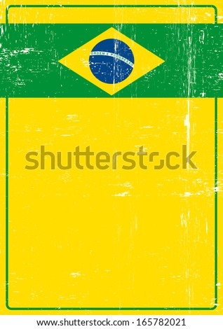 Brazilian dirty poster. A poster on brazilian theme for you. - stock vector