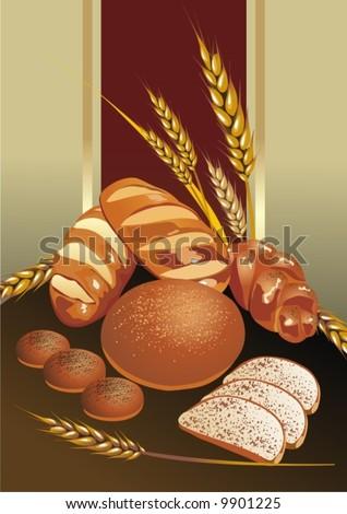 Bread - stock vector