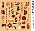 Bread. Bakery. Types of bread - stock vector