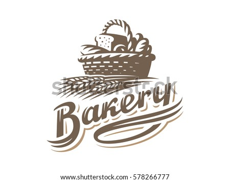 Bread Basket Logo Vector Illustration Bakery Vector De
