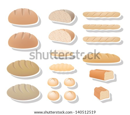 Bread collection - stock vector