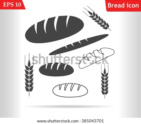 Bread icons set.Bread icons outline.Bakery icons.Wheat icon.Vector illustration