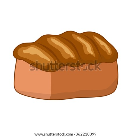 Bread illustration isolated on white background
