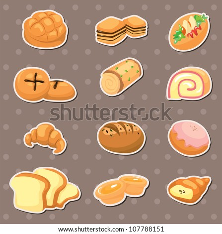 bread stickers - stock vector