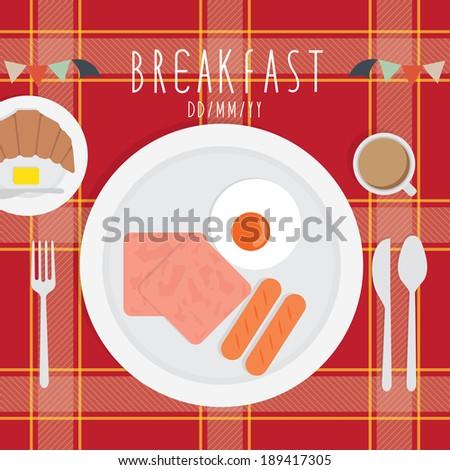 Breakfast - stock vector