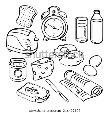Breakfast Collection - stock vector