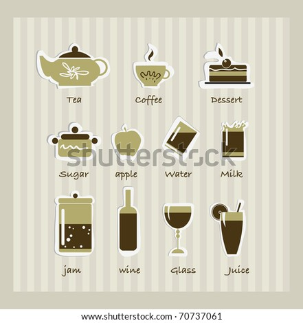 Breakfast icons - stock vector
