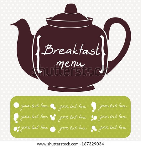 Breakfast Menu Cover Template Cafe Coffee Vector 167329034 – Breakfast Menu Template