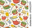 Breakfast pattern - stock vector