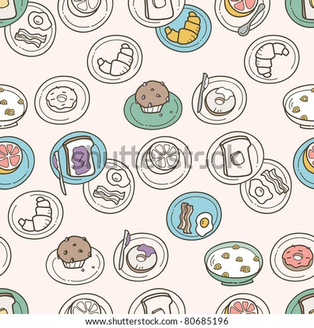 Breakfast Pattern - stock vector