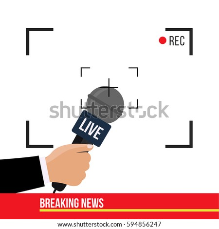 Breaking News Concept Creative Illustration On Stock Vector (Royalty ...
