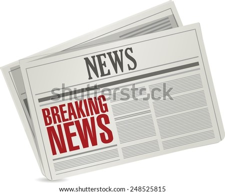breaking news illustration design over a white background - stock vector