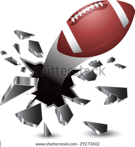 breakthrough football isolated - stock vector