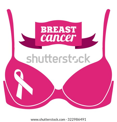 Breast Cancer - stock vector