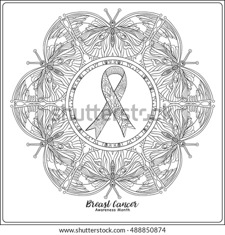 Breast Cancer Awareness Month Decorative Pink Stock Vector ...
