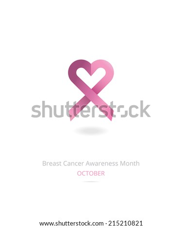 Breast cancer awareness month ribbon - stock vector