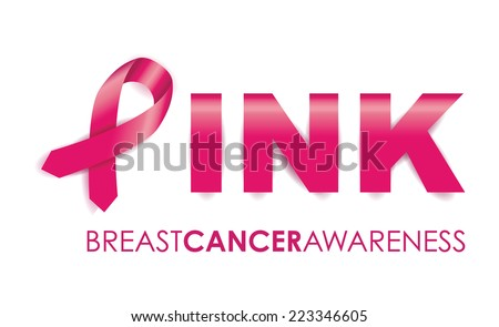 breast cancer awareness ribbon - stock vector