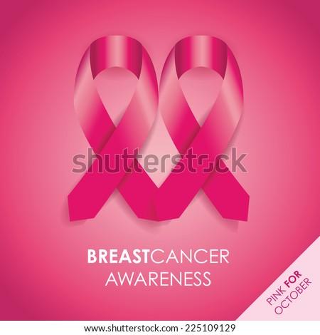 breast cancer awareness ribbon - stock vector