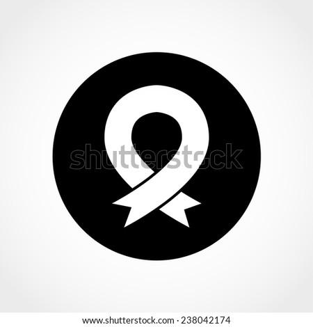 Breast Cancer Awareness Symbol Ribbon Sign Stock Vector 238042174