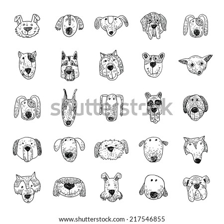 Breed dog collection icon, vector. - stock vector