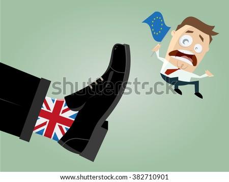 brexit Great Britain EU exit - stock vector