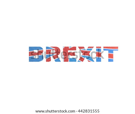 "Brexit referendum, inscription ""BREXIT"""
