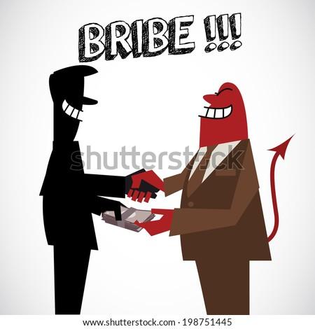Bribe money - vector illustration - stock vector