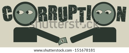Bribery and corruption concept - stock vector