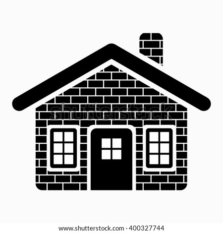 Brick House Vector Design Stock Vector 400327744 - Shutterstock