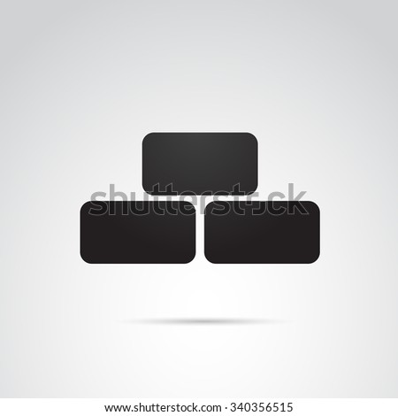 Brick icon isolated on white background. Vector art. - stock vector