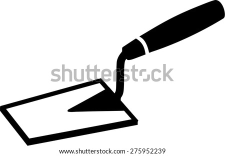 Brick Layer Tools Trowel - stock vector