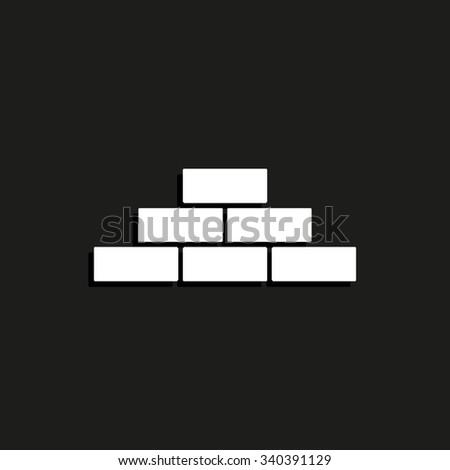 brick - vector icon - stock vector