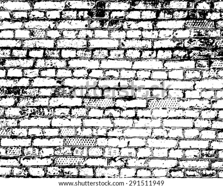 Brick wall detail texture. - stock vector