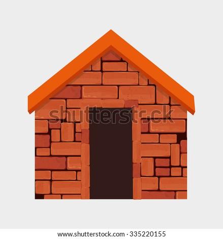 Brick wall graphic design, vector illustration theme - stock vector