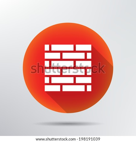 brick wall icon.  - stock vector