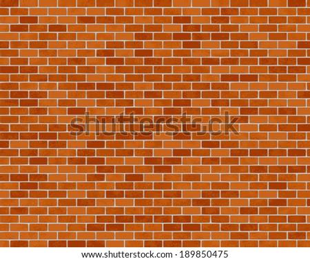 brick wall illustration background - vector - stock vector