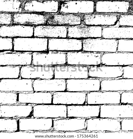 Brick wall overlay texture - for your design. EPS10 vector. - stock vector