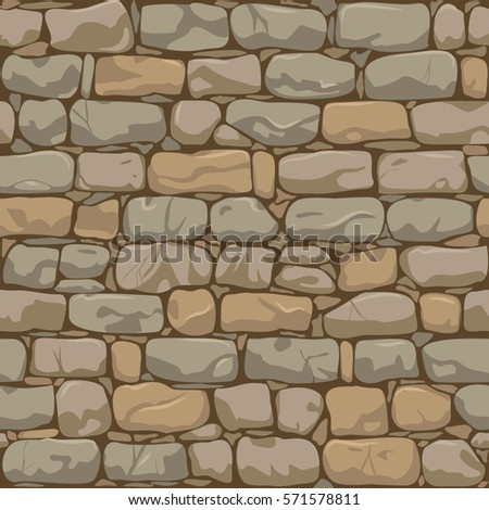 Brick Wall Seamless Pattern. Old Wall Background. Vector Illustration
