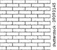 Brick Wall. Seamless. Vector illustration. - stock vector