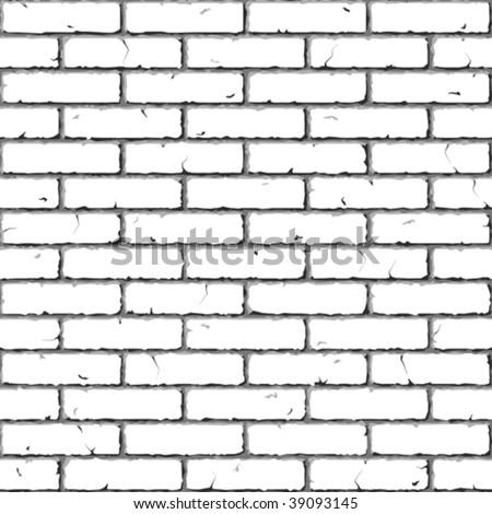 Brick Wall. Seamless. Vector illustration. - stock vector