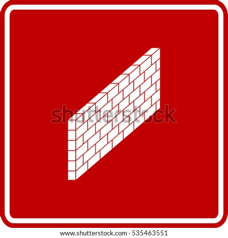 brick wall sign