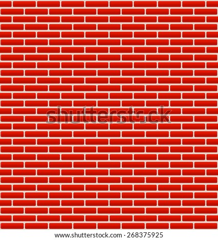 Brick Wall Texture with Small Bricks - stock vector