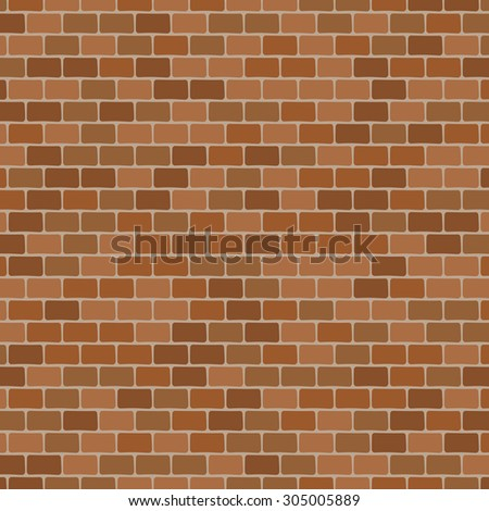 brick wall - vector background - stock vector